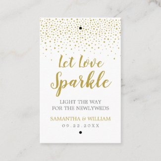 Gold Confetti Wedding Sparkler Tag | Custom Colour