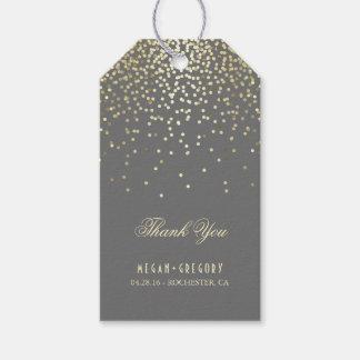 Gold Confetti Wedding Thank You