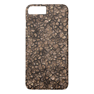 Gold Copper Colored Shiny Rock Texture Background iPhone 7 Plus Case