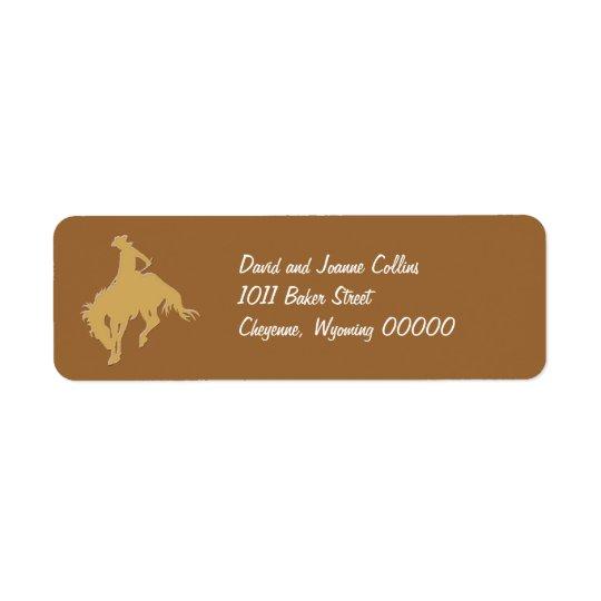 Gold Cowboy Bucking Horse