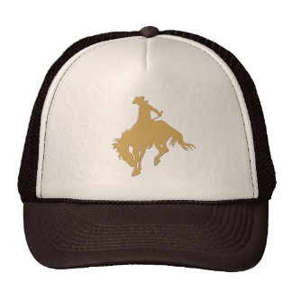 Gold Cowboy Bucking Horse Cap