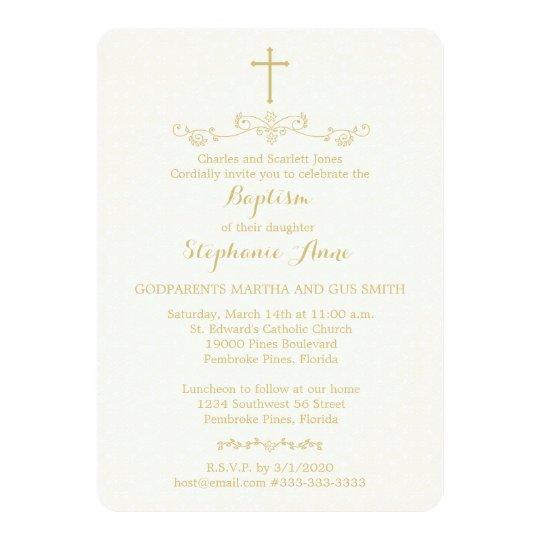 Gold Cross and Laurels Card