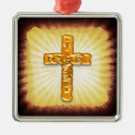 Gold Cross Christmas Ornament