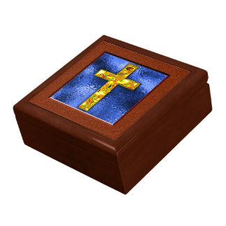 Gold Cross Keepsake Gift Box