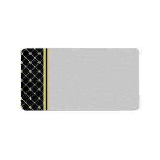 Gold Crosses Pattern Label Template Address Label