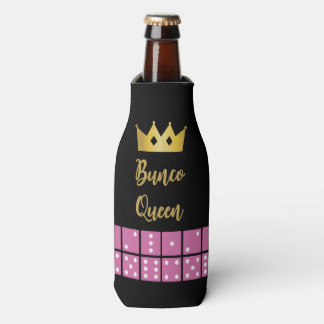 Gold Crown and Pink Dice Bunco Queen