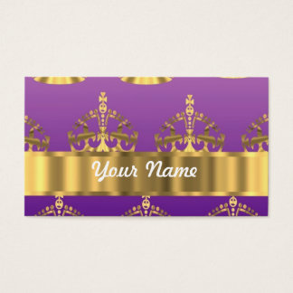 Gold crown pattern business card
