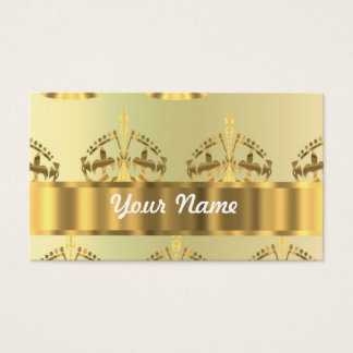 Gold crowns business card