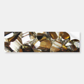 Gold Crystal Mineral Stone Bumper Sticker