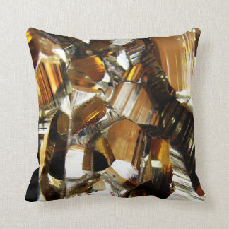 Gold Crystal Mineral Stone Cushion