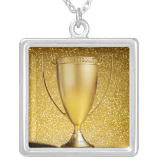 Gold Cup Trophy Silver Plated Necklace