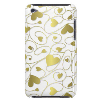 Gold curly hearts iPod touch cover