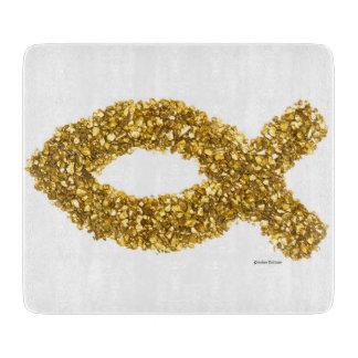 Gold Custom Ichthys Cutting Board