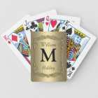 Gold Customised Monogrammed Playing Cards