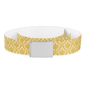 Gold damask belt