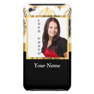 Gold damask instagram photo template barely there iPod cases