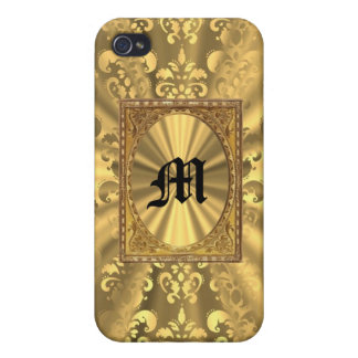 Gold damask iPhone 4/4S case