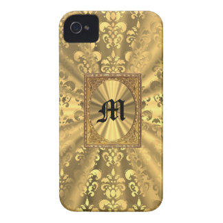 Gold damask iPhone 4 Case-Mate case