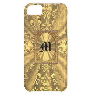 Gold damask iPhone 5C case