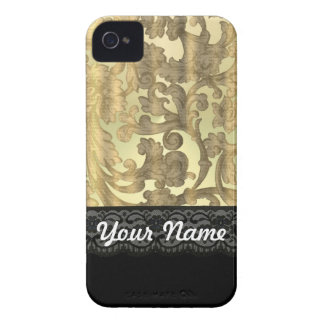 Gold damask & lace iPhone 4 Case-Mate cases
