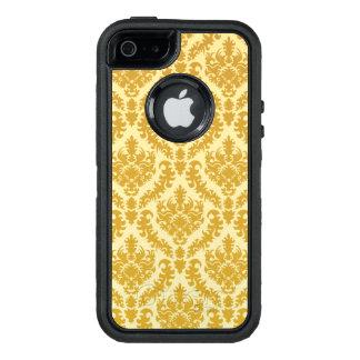Gold damask OtterBox defender iPhone case