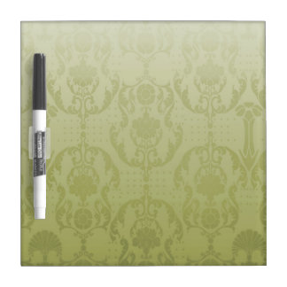 Gold Damask pattern Dry-Erase Whiteboards