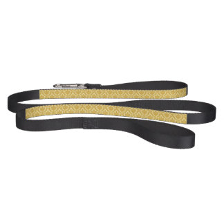 Gold damask pet lead