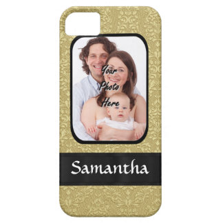 Gold damask photo template case for the iPhone 5