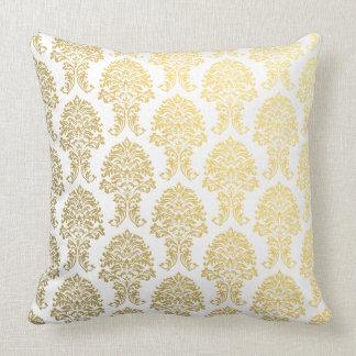 gold damask printed pattern pillows