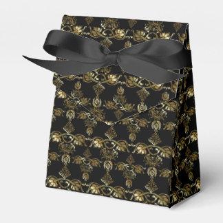 Gold Damask Style Pattern Favour Box