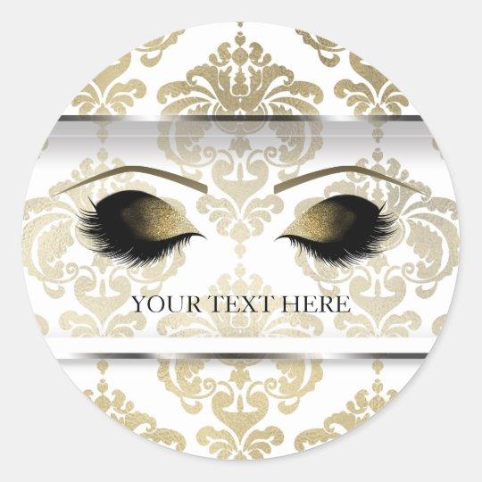 Gold Damask Vintage Glam Modern Makeup Eyelashes Classic