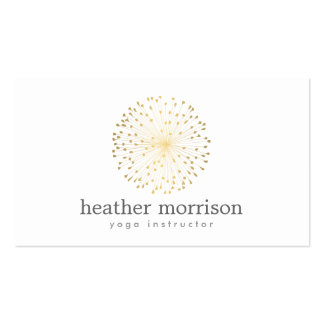GOLD DANDELION STARBURST LOGO on WHITE Pack Of Standard Business Cards