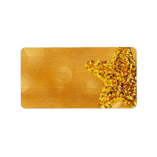 GOLD DAZZLE ADDRESS LABEL