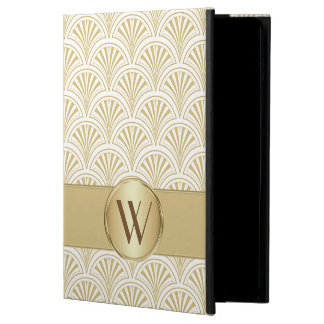 Gold Deco Fan Pattern Monogrammed Powis iPad Air 2 Case
