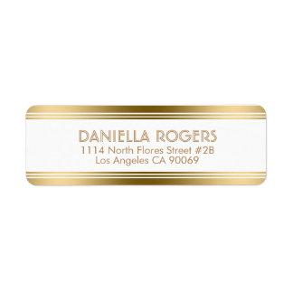 Gold Decorative Stripes Geometric Modern Design