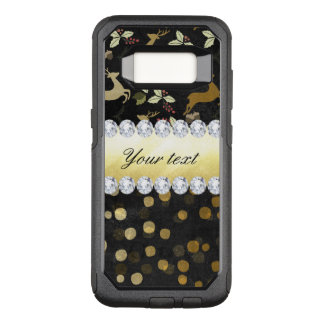 Gold Deer Confetti Diamonds Chalkboard OtterBox Commuter Samsung Galaxy S8 Case