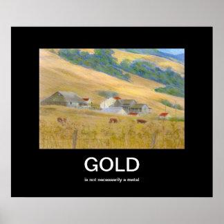 Gold Demotivational Poster