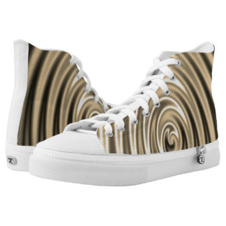 Gold design high tops
