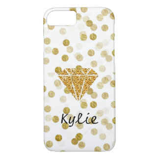 Gold Diamond and Polka Dots Custom Phone Case