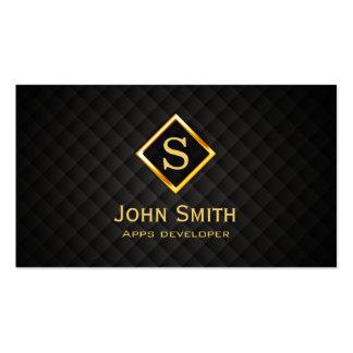 Gold Diamond Apps developer Business Card