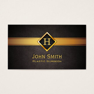 Gold Diamond Label Plastic Surgeon Business Card