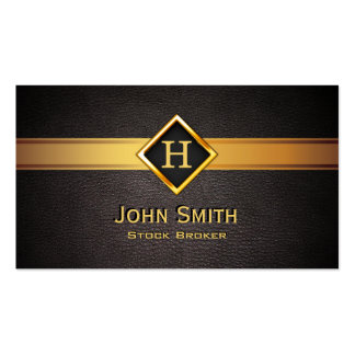 Gold Diamond Label Stock Broker Business Card