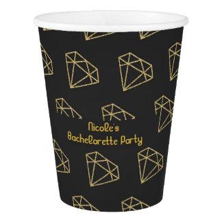 Gold Diamond Modern Bachelorette Party