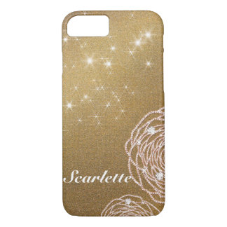 Gold Diamond Rose iPhone 8/7 Case