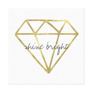 Gold Diamond Shine Bright Canvas Print
