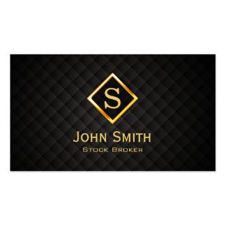 Gold Diamond Stock Broker Business Card
