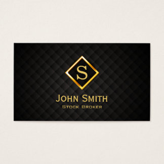 Gold Diamond Stock Broker Business Card