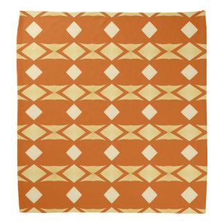Gold Diamond Tribal Striped Pattern Burnt Orange Bandannas