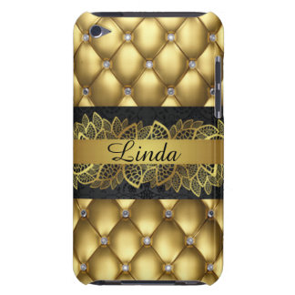 Gold Diamonds Black Pattern Print Design Case-Mate iPod Touch Case