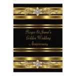 Gold Diamonds Elegant 50th Wedding Anniversary Custom Invite